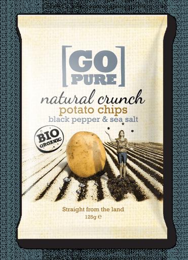 Natural crunch potato chips black pepper