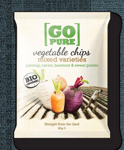 Mixed varieties vegetable chips